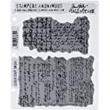 Stampers Anonymous Tim Holtz Cling Rubber Stamp Set, 7 by 8.5, Ledger Script by Stampers Anonymous