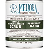 Meliora Cleaning Products Gentle Home Cleaning Scrub - Scouring Cleanser for Kitchen, Tube, and Tile, 12 oz. (Peppermint Tea