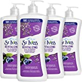 St. Ives Revitalizing Body Lotion, Acai Blueberry Chia Seed Oil, 21 oz, Pack of 4