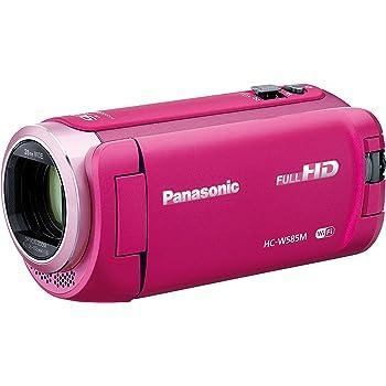 Panasonic HDビデオカメラ W585M 64GB ワイプ撮り 高倍率90倍ズーム ピンク HC-W585M-P