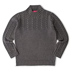 Sage de Cret Wool Cable Mockneck Sweater