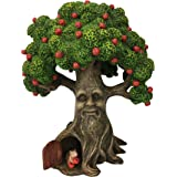 GlitZGlam Fairy Garden Miniature Tree Harry The Hedgehog's Apple Tree (9.25 Inch Tall) for The Garden Fairies and Lawn Gnomes