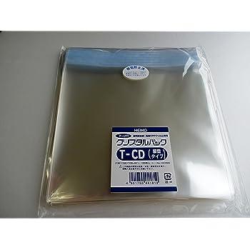 ヘイコー 透明 OPP袋 クリスタルパック テープ付 CD用 縦 100枚 T-CD