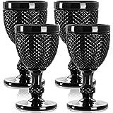 Black wine glasses set of four black goblets elegant gothic wine glasses for wedding goblets, halloween wine glasses, dragon