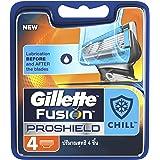 Gillette Fusion Proshield Chill Razor Cartridges Refill, 4ct