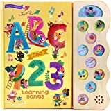 ABC & 123 Learning Songs: Interactive Children's Sound Book (11 Button Early Bird Song)