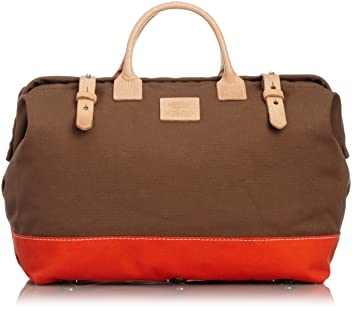 Heritage Leather Company Mason Bag 7725: Brown / Orange
