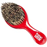 Torino Pro Wave Brush #470 by Brush King - Extra Hard Curve Wave Brush with Reinforced Boar & Nylon Bristles - Great for Wolf