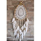 Dream Catcher Wall Hanging Boho Style Dreamcatcher Teardrop Shape Bohemian Decor Item Hand Crafted Weddings Crochet Hippie Gy