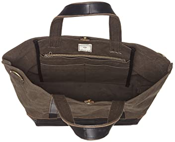 Aging Canvas 2-way Tote: Black