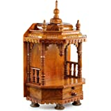 Premium Hand Made Wooden Temple | Wooden Indian Mandir | Sheesham Wooden Madir | Nagina International (Rosewood)