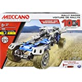 MECCANO by Erector, 10 in 1 Rally Racer Model Vehicle Building Kit, STEM Engineering Education Toy for Ages 8 and up, Steel B