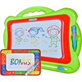 Large Magnetic Drawing Board for Kids and Toddlers 16'' X 13'' | New Colorful Magna Doodle Toy Plus Magic Water Drawing Pad |