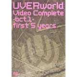 UVERWORLD VIDEO COMPLETE-ACT.1-FIRST 5 YEARS [DVD]