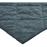 PLAYETTE Quilted Travel Cot Fitted & Padded Sheet, Charcoal, 73 x 105 cm, 500 g