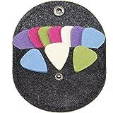 Ukulele Picks10-Pack Felt Pick for Ukulele Guitar Bass with Pick Holder case