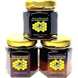 Tualang Honey 50g x 3 Jars (Economy Tasting Mini-Pack: Black, Red, Yellow Honey)   Total Activity 9.5+ to 11.5+   Pollen Coun