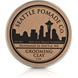 Seattle Pomade Co. Grooming Clay for Hair - USDA Certified, Made With Organic Essential Oil and Extracts