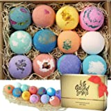LifeAround2Angels バスボム 入浴剤 ギフトセット12個入り bath bombs USA made Fizzies, Shea & Coco Butter Dry Skin Moisturize, Perfect for Bubble & Spa Bath