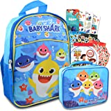 """Baby Shark Mini Backpack and Lunch Bag for Kids ~ 4 Pc Bundle With 11"""" Baby Shark School Bag, and Toy Story and Finding Dory"""