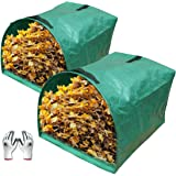 Gardzen 2-Pack Large Yard Dustpan-Type Garden Bag for Collecting Leaves - Reuseable Heavy Duty Gardening Bags, Lawn Pool Gard