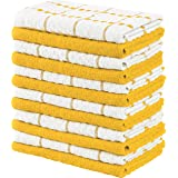 Utopia Towels Kitchen Towels, 15 x 25 Inches, 100% Ring Spun Cotton Super Soft and Absorbent Yellow Dish Towels, Tea Towels a