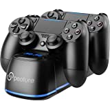 PS4 Controller Charger, Peoture PS4 Controller Charging Station with LED Light Indicator for Sony Playstation 4/PS4 Pro/PS4 S