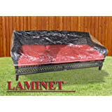 LAMINET Crystal Clear Heavy-Duty Waterproof Plastic Outdoor Furniture Cover - Slider/Glider Cover - 3 Season Protection - Kee