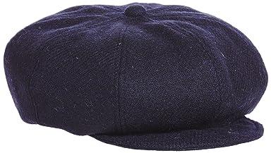 Harris Tweed Newsboy Cap 11-41-2718-017: Navy