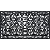 A1 Home Collections A1HCCL68 Doormat A1HC First Impression Rubber Paisley, Beautifully Hand Finished,Thick, 36X72, Black Esta