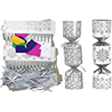 Iconikal DIY Make-Your-Own Christmas Party Favor, 12-Pack (Silver Snowflakes)