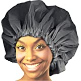 Donna Premium Collection Super Jumbo Shower Cap Black 22164