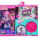 Capsule Chix Shimmer Surge 2 Pack, 4.5 inch Small Doll with Capsule Machine Unboxing and Mix and Match Fashions and Accessori