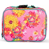 Bentology Lunch Box for Girls - Kids Insulated Lunchbox Tote Bag Fits Bento Boxes - Watercolor Flowers