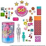 バービー(Barbie) カラーリビール! みずで色マジック 20.37x20.37x33.02cm パーティー ドール&アクセサリーセット サプライズトイ 6才~ GRK14