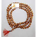 IS4A 8MM TULSI HOLY BASIL PRAYER BEADS JAPA MALA NECKLACE HAND KNOTTED. KARMA (108+1) BEADS. BLESSED & ENERGIZED HINDU TIBETA