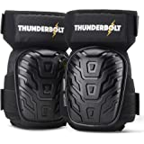 Knee Pads for Work by Thunderbolt with Heavy Duty Foam Cushioning and Gel Cushion Perfect for Construction, Flooring and Gard
