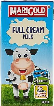 MARIGOLD Full Cream UHT Milk, Plain, 200ml (Pack of 24)
