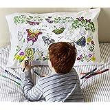 eatsleepdoodle Doodle Pillowcase - Parent, Cotton, Butterfly, Standard