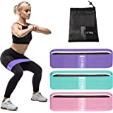 3 Fabric Resistance Bands for Legs and Butt, Loop Exercise Bands, Booty Workout Bands for Women, Glute Bands, Non Slip Squat