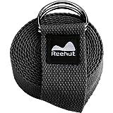 Reehut ヨガストラップ ヨガベルト (183、244,、305cm/6、 8、 10フィート) 調節可能なD字型のリング バックル付き フィットネス エクササイズ ストレッチ 柔軟運動 理学療法用