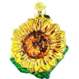 Old World Christmas Ornaments: Garden Sunflower Glass Blown Ornaments for Christmas Tree