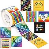 Gay Pride Rainbow Sticker Roll (500 Pack)