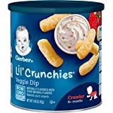 Gerber Lil' Crunchies, Veggie Dip, 1.48 Ounce Canisters (Pack of 6)