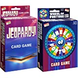 Endless Games Jeopardy! Card Game & Wheel of Fortune Card Game Gift Set Bundle - 2 Pack