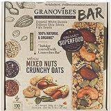Granovibes Mixed Nuts Crunchy Oats Granola Bar Box (6 Piece), 168 g,17 x 5.7 x 15.1 cm,Brown