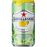 Sanpellegrino Limone+tea Organic Sparkling Lemon Tea Cans, 250ml (Pack of 6)