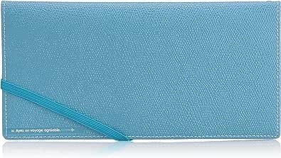 [コンサイス] スキミングブロック パスポートケース皮革調R 貴重品入れ スキミング予防 20 cm 0.062kg ブルー