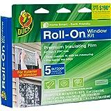 Duck Brand 281072 Roll-On Outdoor 5-Window Premium Insulating Film Kit, 62-Inch x 200-Inch