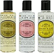 Naturally European Mini Shower Gel Collection (Verbena, Rose Petal, Ginger & Lime), 3ct